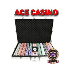 Kelowna Pool Tables Game Room - 1000pcs 14G Laser Graphic Ace Casino Poker Chips Set With Alum Case