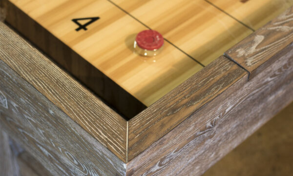 Kelowna Pool Tables Game Room - Cimmaron Shuffleboard Smoke Top Corner