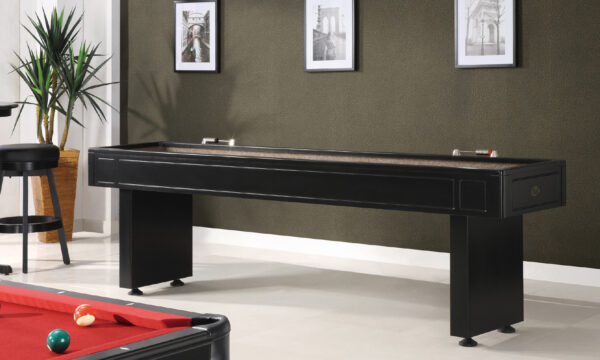 Kelowna Pool Tables Game Room - Classic Shuffleboard 41 Finish Room Setting