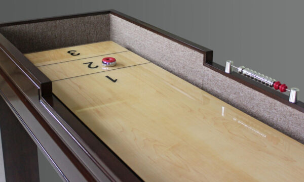 Kelowna Pool Tables Game Room - Colt Shuffleboard Close Up Playfield