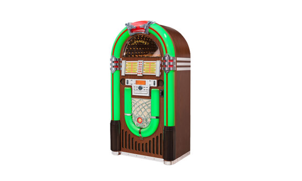 Kelowna Pool Tables Game Room - Full Size Bluetooth Jukebox Green