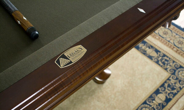 Kelowna Pool Tables Game Room - Mallory Pool Table Nameplate