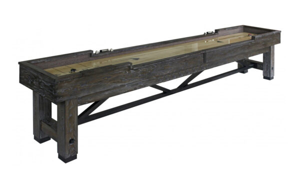 Kelowna Pool Tables Game Room - Rustic Cimmaron Shuffleboard Smoke