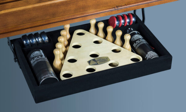 Kelowna Pool Tables Game Room - Shuffleboard Perfect Drawer Full