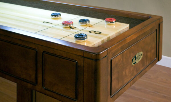 Kelowna Pool Tables Game Room - Sterling Shuffleboard Cabinet Close Up